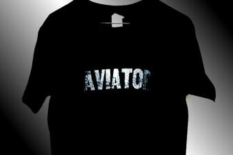 AVIATOR T-shirts  BLACK/SILKSCREEN No,2015-04