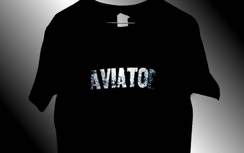 AVIATOR T-shirts  BLACK/SILKSCREEN No,2015-04