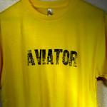AVIATOR T-shirts  YELLOW / SILKSCREEN No,2015-03