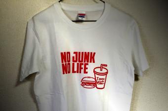 NO JUNK NO LIFE T-shirts /SILKSCREEN No,2015-02