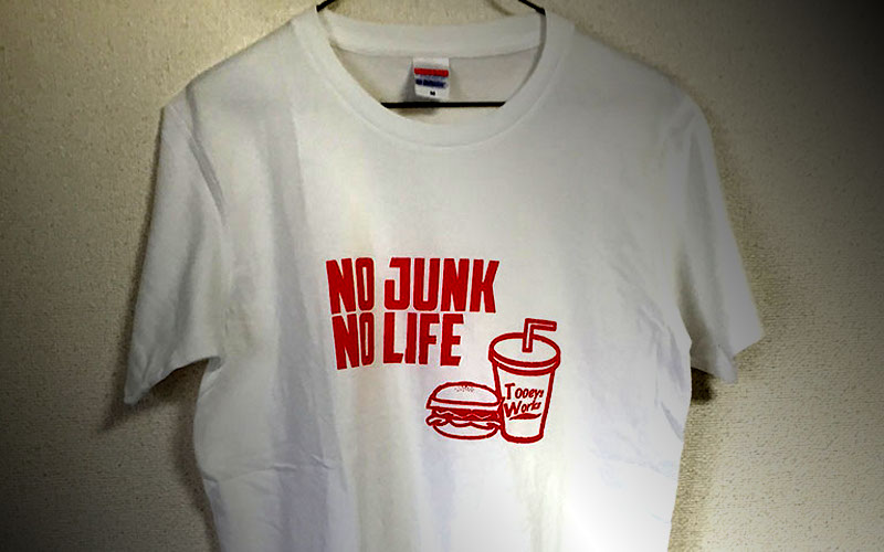 NO JUNK NO LIFE T-shirts /SILKSCREEN No,2015-02