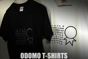 ODOMO T-shirts BLACK & WHITE/SILKSCREEN No,2015-06