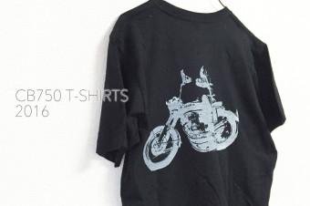 CB750 T-shirts  BLACK/SILKSCREEN No,2016-01