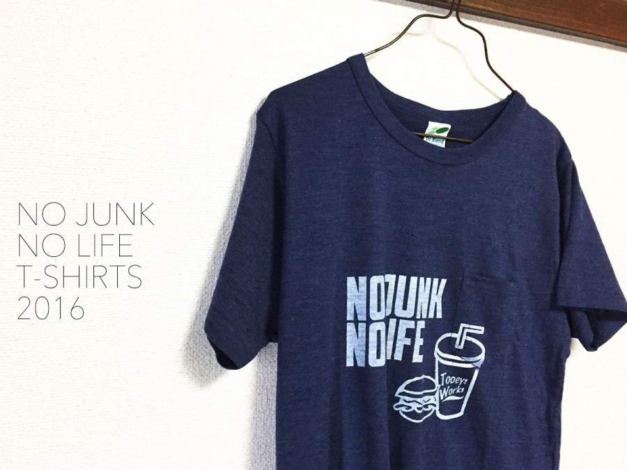 NO JUNK NO LIFE T-shirts /SILKSCREEN No,2016-02