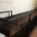 HANDMADE IRON-WOOD TV-BOARD