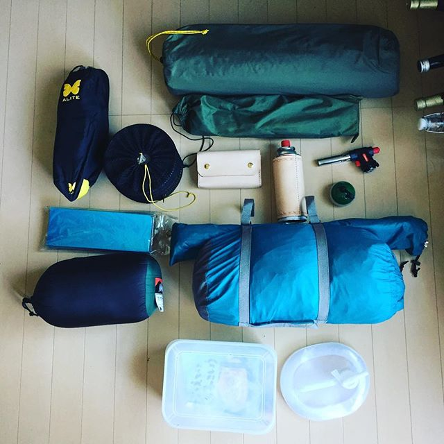 CAMP GOODS #solocamping #outdoor #harleydavidson #xlh1000#alite #nanga #soto #snowpeak #montbell #llbean
