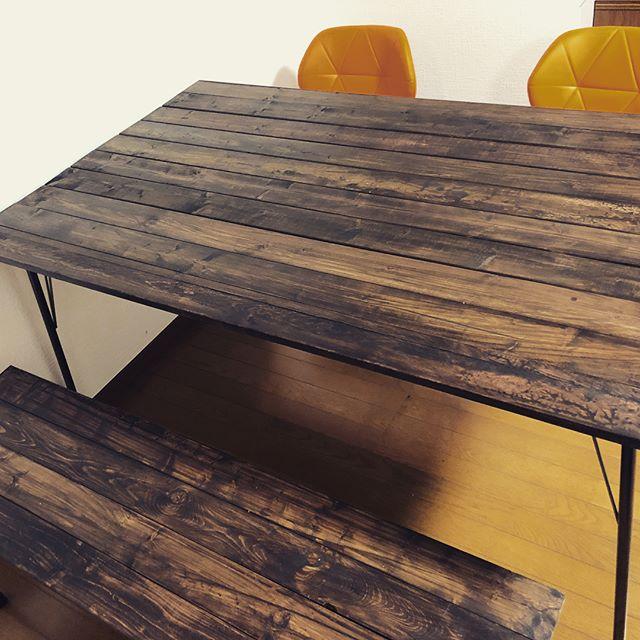 DINING TABLE #handmade #craft #briwax #tooeysworks #diy