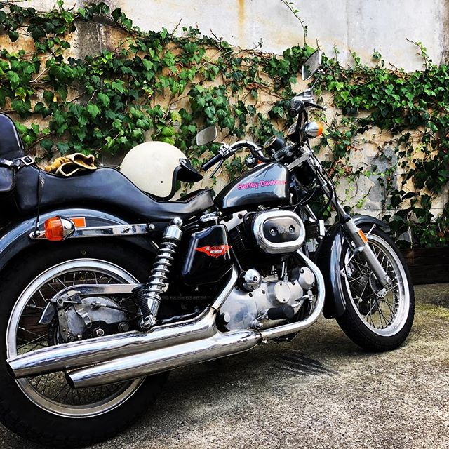 NORMAL MUFFLER #harleydavidson #sportster #shovelhead #shovelsports #ironhead #vintage #xlh #xlch #77xlh #xlh1000 #vintagemotorcycle #ironsports #japan #tooeysworks#garagelife#crassicmotorcycle#sportygarage