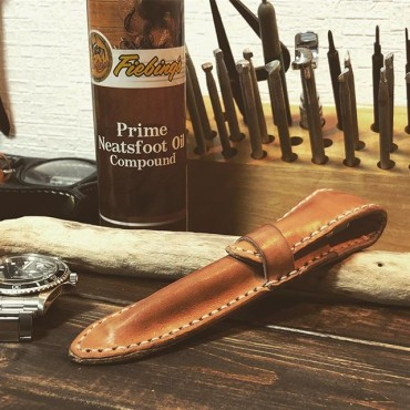 HANDMADE PENCASE#leathercrafts #handmade #tooeysworks #leather
